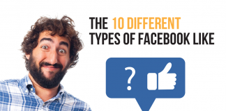 The 10 different facebook likes